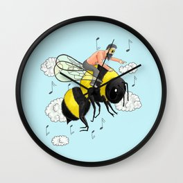 Flight of the Bumblebee by Nicolai Rimsky-Korsakov. Wall Clock