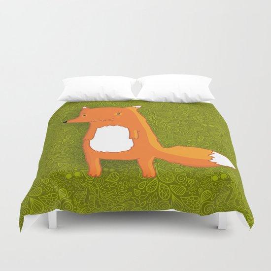 Cute cartoon fox Duvet Cover
