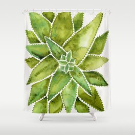 Aloe Vera – Green Palette Shower Curtain