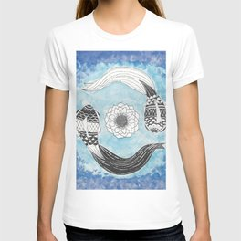 Ying and Yang Coi With Lotus T-shirt