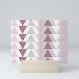 Triangle Pattern Mini Art Print