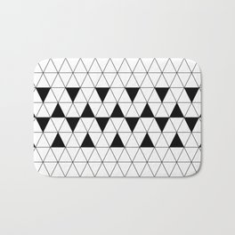 Black and white geometric design. Bath Mat
