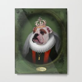 English Bulldog Art - Lucy Metal Print