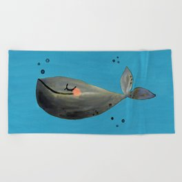 Whale Hello There Beach Towel