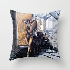 Solas leaves Throw Pillow