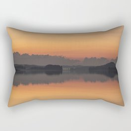 Sunset colors and reflection on the lake surface - magical atmosphere in Scandinavian night Rectangular Pillow