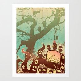 Scary Tree Art Print