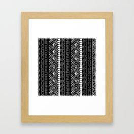 Black Mudcloth Framed Art Print