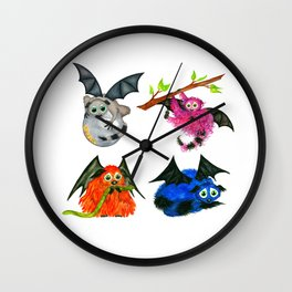 Iggy through the Pages Wall Clock
