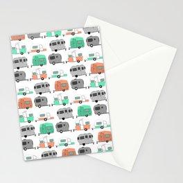 Vintage caravan pattern Stationery Cards