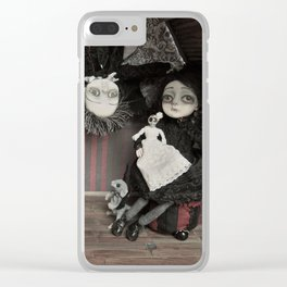 Vincent and Vanessa, the vampire children Clear iPhone Case