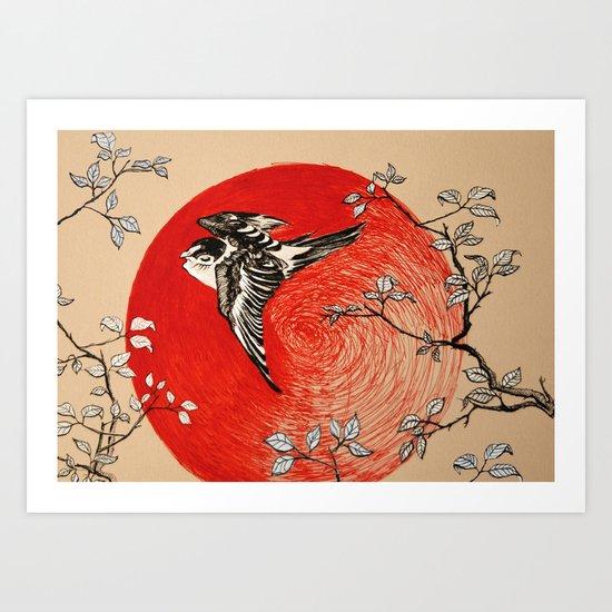 Japan Bird Art Print