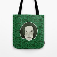 scully Tote Bags featuring Dana Scully by Kuki