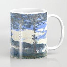 Monet : Poplars on the River Epte Coffee Mug