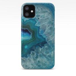 Teal Druzy Agate Quartz iPhone Case