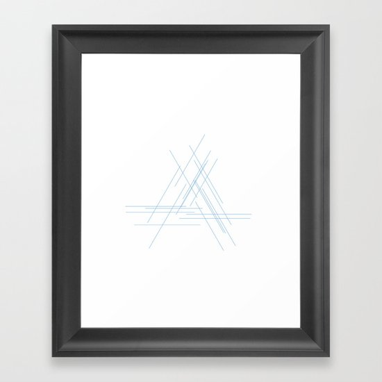#172 Out of focus – Geometry Daily Framed Art Print