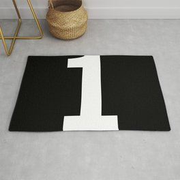 Number 1 (White & Black) Rug