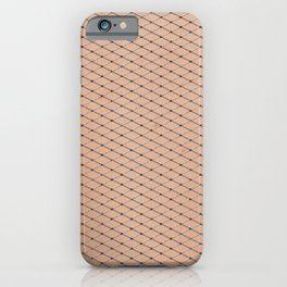 Silver Fishnets With Skin Texture iPhone Case