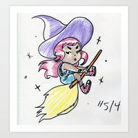 Witch Girl Art Print