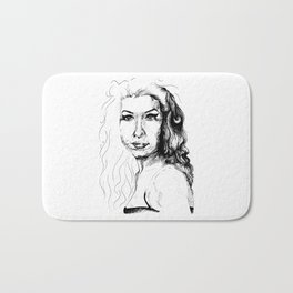 The girl with the guitar Bath Mat