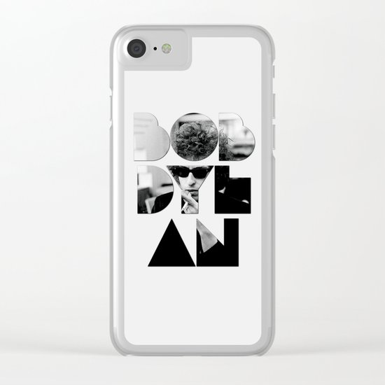 Bob Dylan Font Sunglasses Clear iPhone Case