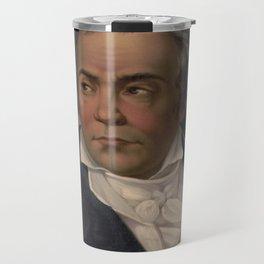 Vintage Portrait of Ludwig van Beethoven (1870) Travel Mug