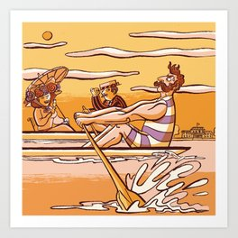 Henley Regatta (March 26th, 1839) Art Print