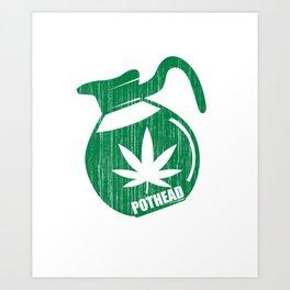 Green Pothead Coffee Art Print