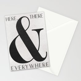 Here, There & Everywhere Stationery Cards