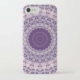 Lace on Lavender iPhone Case