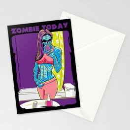 Zombie Today  Stationery Cards