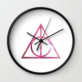 Deathly Hallows Galaxy HarryPotter Wall Clock