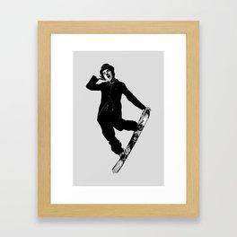 Gnarly Chaplin Framed Art Print