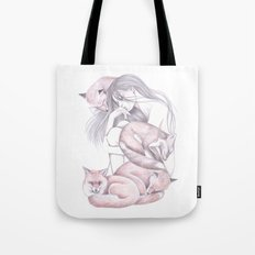 Sleeping Foxes Tote Bag