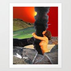 Emote by Zabu Stewart Art Print