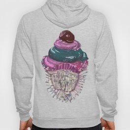 Pink and Blue Cupcake Hoody