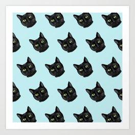 Black Cat Appreciation Day Art Print