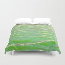 Rippling Green Duvet Cover