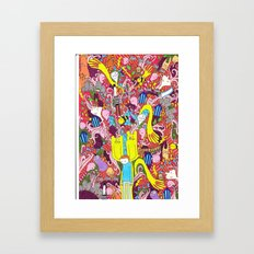 Mind mash up Framed Art Print