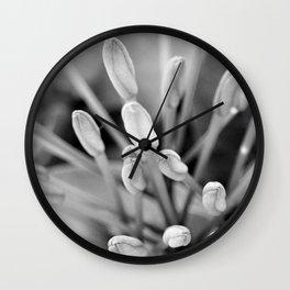Buds of Life Macro Wall Clock