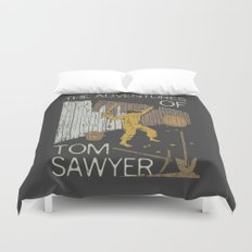 Books Collection: Tom Sawyer Duvet Cover