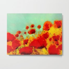 FLOWERS - Poppy time Metal Print