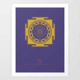 Sri Yantra Mandala Art Print