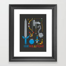Choose Your Weapon Dark Framed Art Print