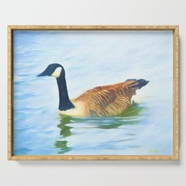Lone Canada Goose Serving Tray