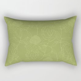 Green Australian Botanicals Rectangular Pillow