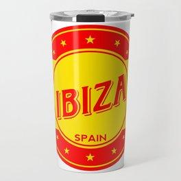 Ibiza, circle Travel Mug