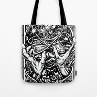 vonnegut Tote Bags featuring cat's cradle - vonnegut by miles to go