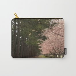 Cherry Blossom Row Carry-All Pouch