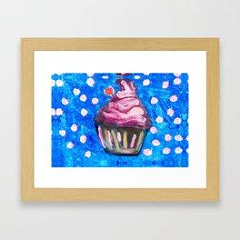 Sparkle CupCake Framed Art Print